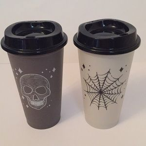 Starbucks Skull and Spider Web Hot Reusable Cups